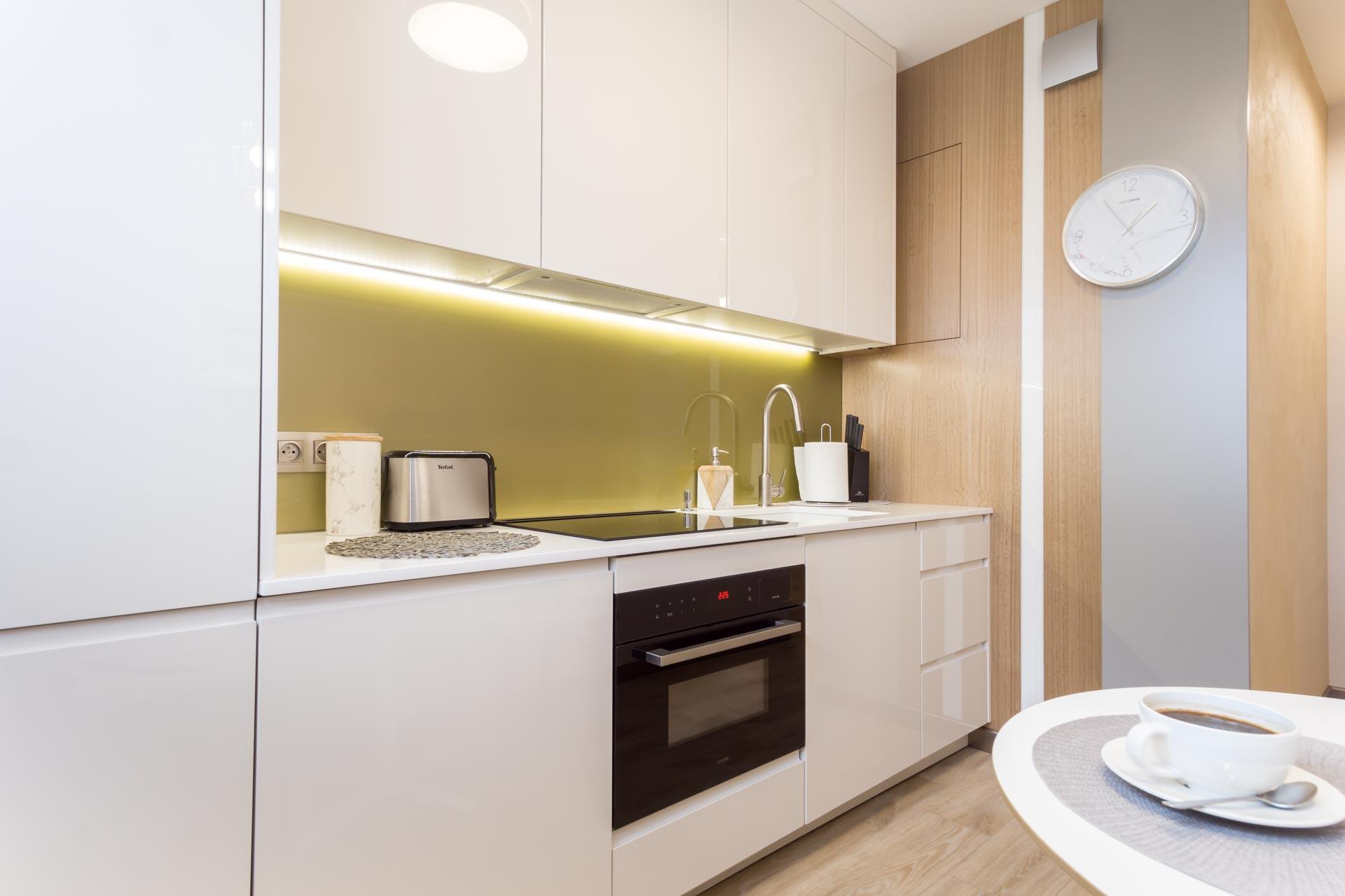 Projekt kuchni w mieszkaniu w Łodzi